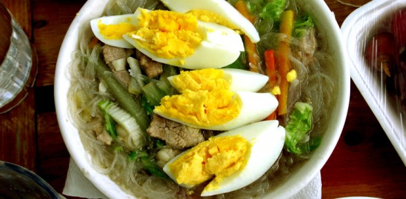 Chicken Sotanghon (Chicken Noodle Soup)